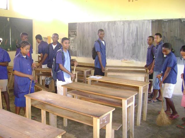 entretien Cobara par élèves