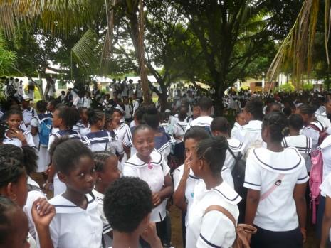 des élèves de Cobara jour de fête